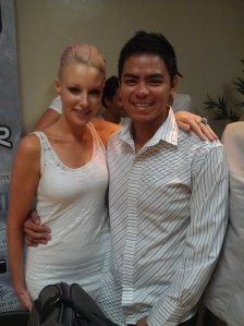 Emma Hewitt with Ayan Deato
